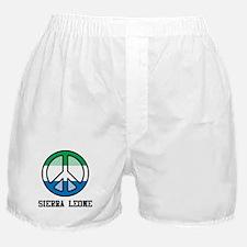 Peace In Sierra Leone Boxer Shorts