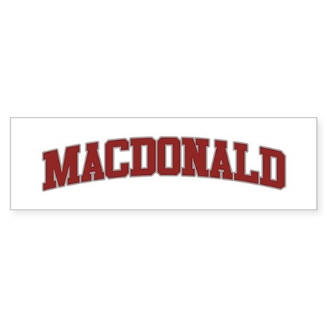 MACDONALD Design Bumper Sticker