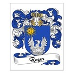 Roger Family Crest Small Poster