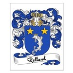Rolland Family Crest Small Poster