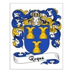 Roque Family Crest Small Poster