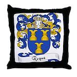 Roque Family Crest Throw Pillow