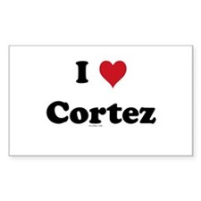 I love Cortez Rectangle Decal