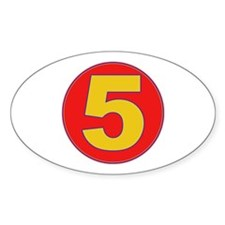 5 Oval Decal