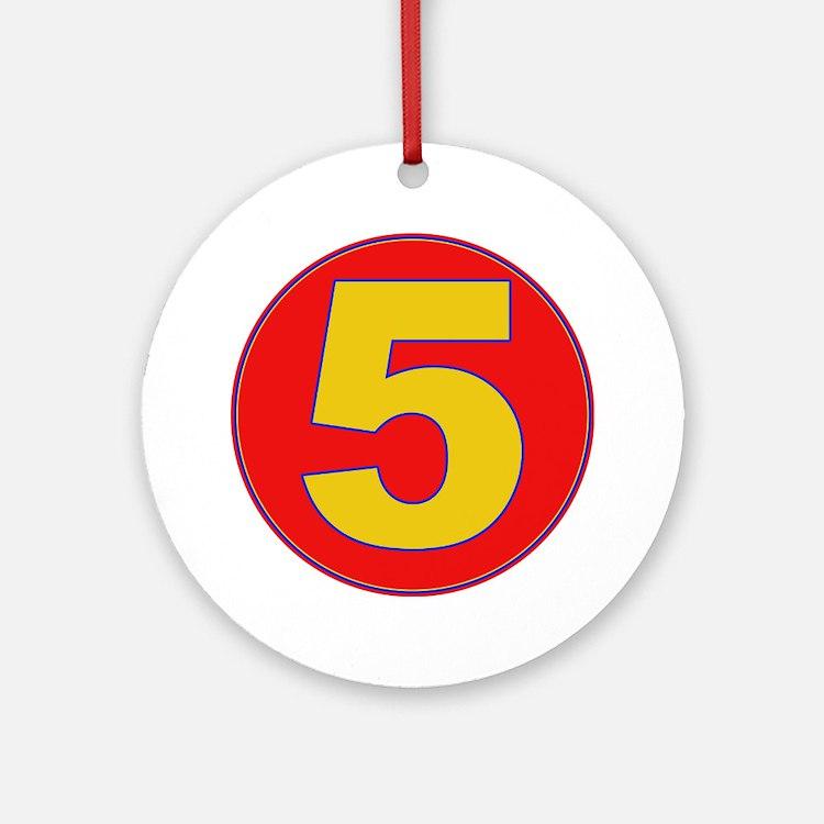 5 Ornament (Round)