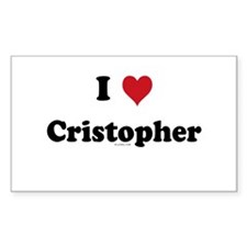 I love Cristopher Rectangle Decal