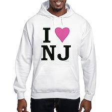 """""""I LOVE NJ"""" Pink BOTH SIDES Jumper Hoody"""