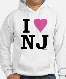 """I LOVE NJ"" Pink BOTH SIDES Jumper Hoody"