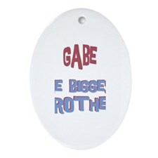 Gabe - The Biggest Brother Oval Ornament