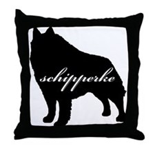 Schipperke DESIGN Throw Pillow