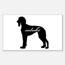 Saluki DESIGN Rectangle Decal