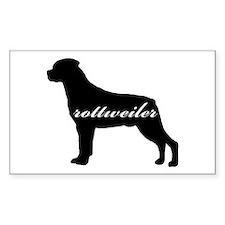 Rottweiler DESIGN Rectangle Decal