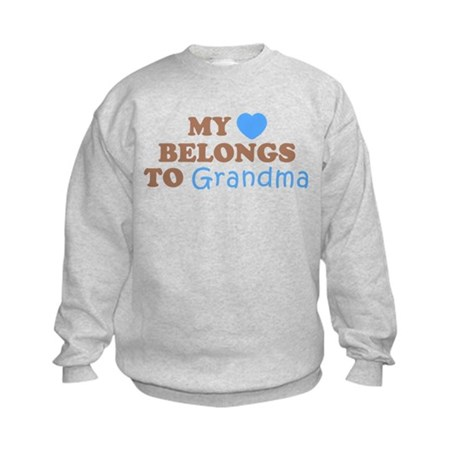 My Heart Belongs To Grandma (Blue/Brown) Kids Swea