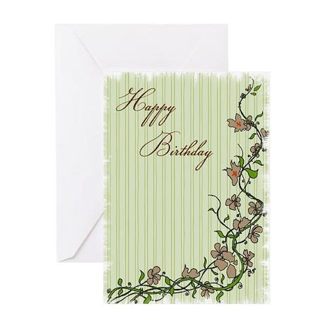Birthday Climbing Vines Greeting Card