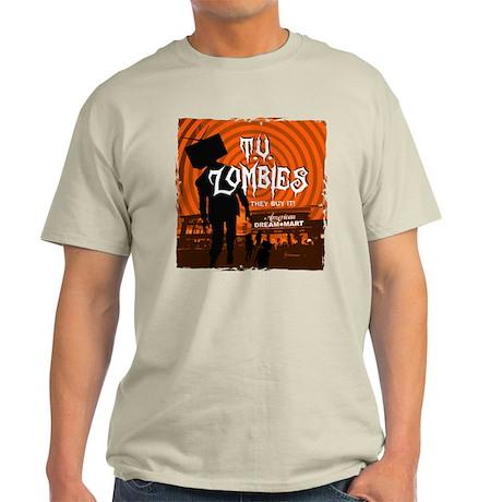 T.V. Zombies Light T-Shirt