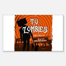 T.V. Zombies Rectangle Decal