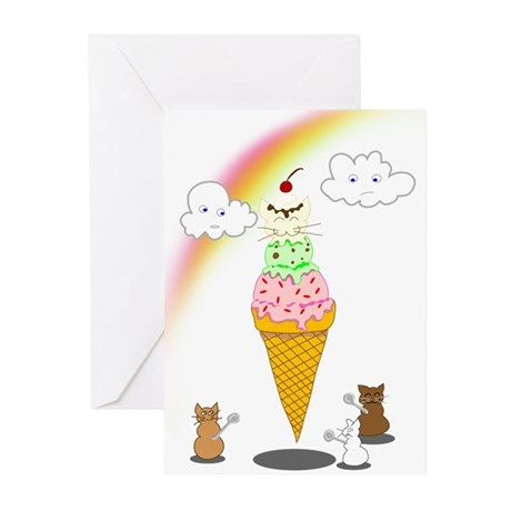 Cone Cat Greeting Cards (Pk of 20)