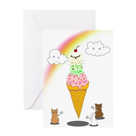 Cone Cat Greeting Card