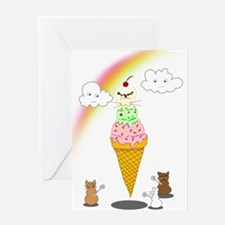 Cone Cat Greeting Card