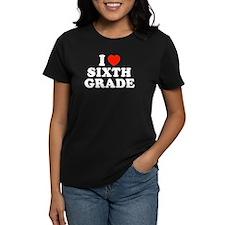 I Heart/Love Sixth Grade Tee