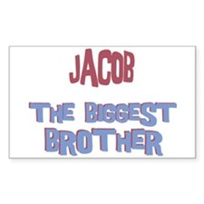 Jacob - The Biggest Brother Rectangle Decal