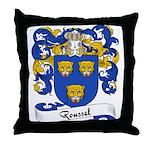 Roussel Family Crest Throw Pillow