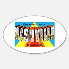 Nashville Tennessee Greetings Oval Decal