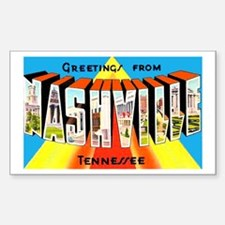 Nashville Tennessee Greetings Rectangle Sticker 1