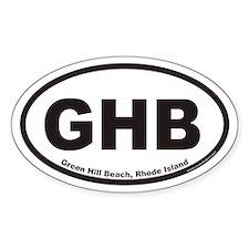 Green Hill Beach GHB Euro Oval Bumper Stickers