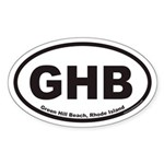 Green Hill Beach GHB Euro Oval Sticker