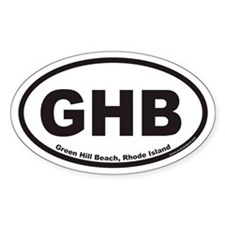 Green Hill Beach GHB Euro Oval Stickers
