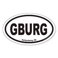 Gettysburg GBURG Euro Oval Decal