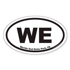 Worlds End State Park WE Euro Oval Bumper Stickers