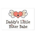 Daddy's Little Biker Babe Postcards (Package of 8)