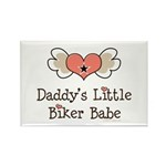Daddy's Little Biker Babe Rectangle Magnet (100 pa