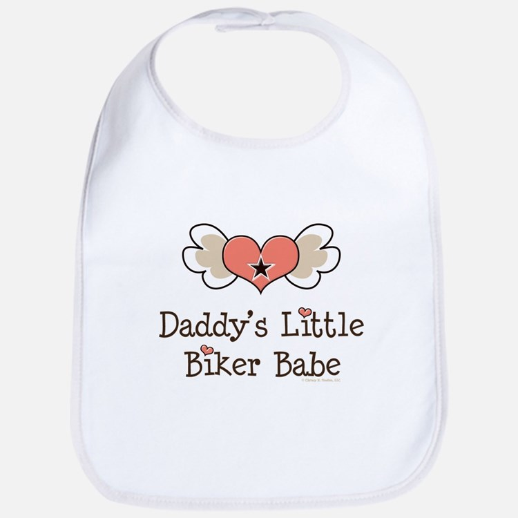 Daddy's Little Biker Babe Bib