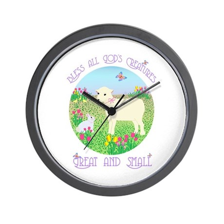 Bless All God's Creatures Wall Clock