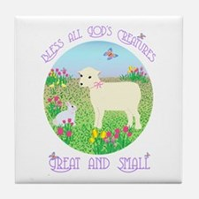Bless All God's Creatures Tile Coaster
