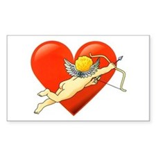 Cupid Valentine Heart Tattoo Rectangle Decal