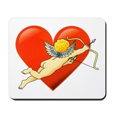 Cupid Valentine Heart Tattoo Mousepad
