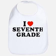 I Heart/Love Seventh Grade Bib