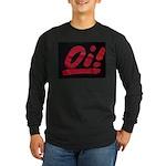 Oi! (red logo) Long sleeve black t-shirt
