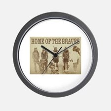 Home of the Braves Wall Clock