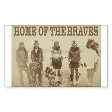 Home of the Braves Rectangle Decal