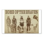 Home of the Braves Rectangle Sticker 50 pk)
