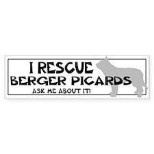 I RESCUE Berger Picards Bumper Sticker