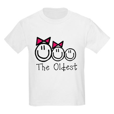 Oldest of 3 (GGB) Kids Light T-Shirt