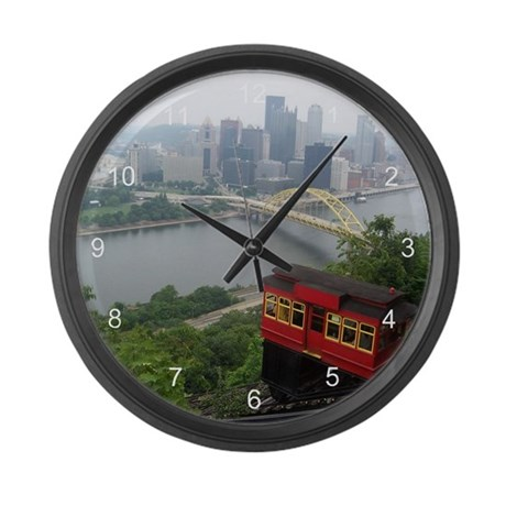 Pittsburgh Skyline Large Wall Clock