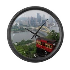 Pittsburgh Skyline Large Wall Clock