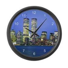 New York City at Night Large Wall Clock